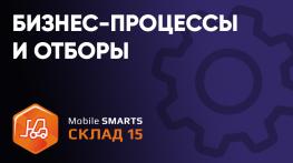 Описание бизнес-процессов и отборов в «Mobile SMARTS: Склад 15»