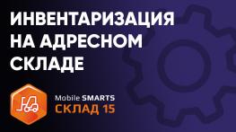 Инвентаризация на адресном складе при помощи ТСД и ПО «Mobile SMARTS: Склад 15»